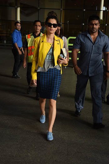 kangana ranaut was spotted at mumbai airport