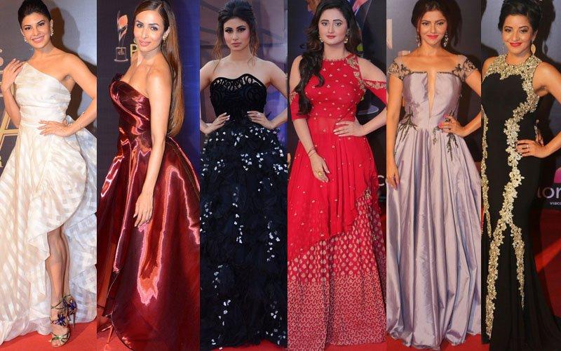BEST DRESSED & WORST DRESSED At The Colors Golden Petals Awards 2017: Jacqueline Fernandez, Malaika Arora, Mouni Roy, Rashami Desai, Rubina Dilaik Or Monalisa?