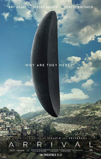 Poster of the spaceship Arrival Movie