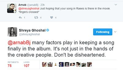 shreya ghoshal twitter tweet