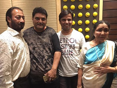 asha bhosle in studio after many years