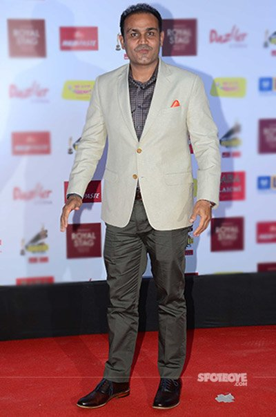 virendra sehwag at mirchi music awards 2017