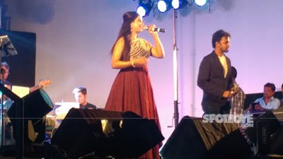 shreya ghoshal performing at a concert in mumbai