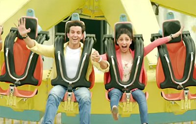 yami and gautam on an amusement park ride in kuch din kaabil song