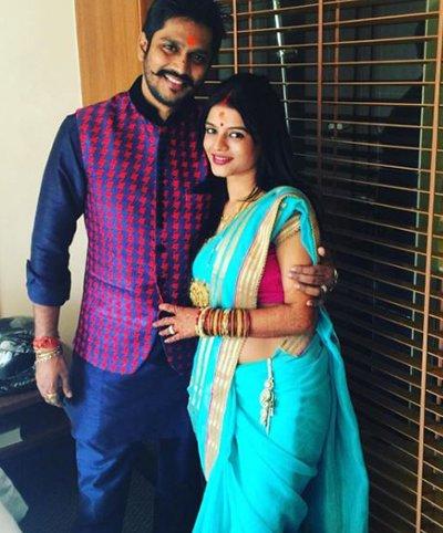 mitali nag with husband sankalpp pardeshi