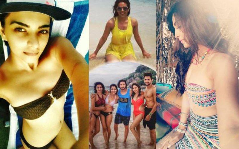 NEW  BIKINI BABES IN TOWN: TV Stars Sriti, Madhurima & Himanshi Show Off Their Sexy Bodies