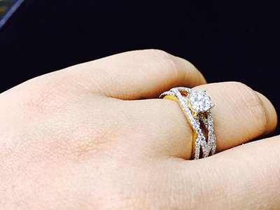 kishwer merchant and her ring