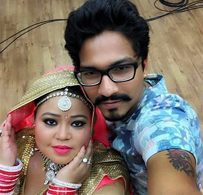 bharti singh with boyfriend harsh limbhachiyaa