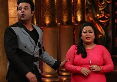 krushna abhishek and bharti singh on comedy nights bachao tazza
