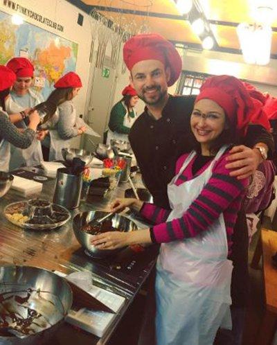 saumya tandon making chocolate