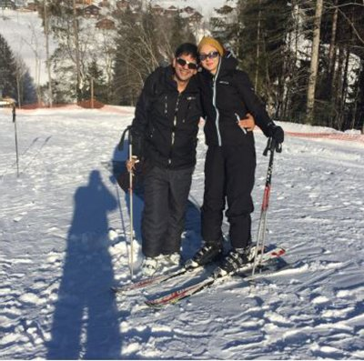 saumya tandon on a holiday with her husband