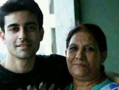 gautam rode with his mother sangita rode