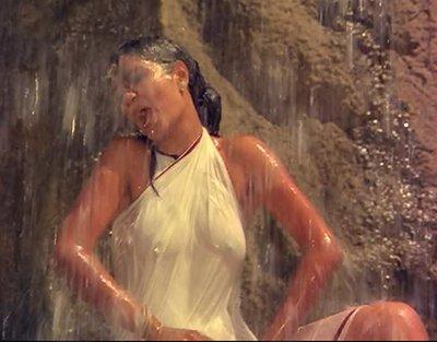 zeenat aman in a hot scene from satyam shivam sundaram