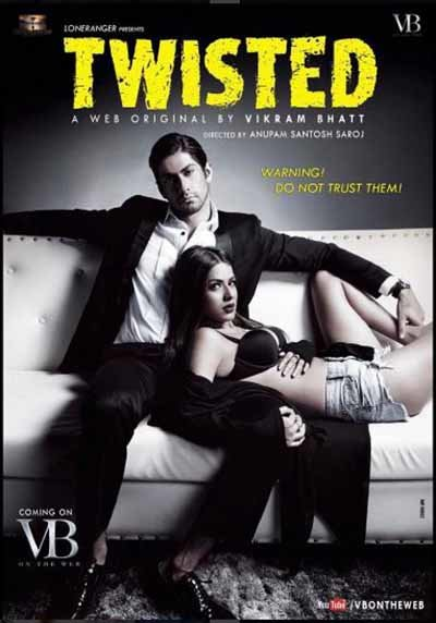 nia sharma and namit khanna in a sexy pose twisted web series poster