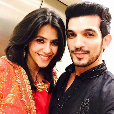 ekta kapoor and arjun bijlani during a diwali party