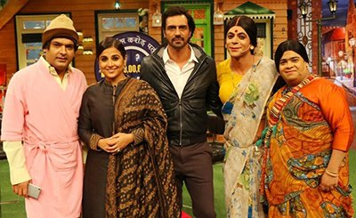 vidya balan and arjun rampal promote kahaani 2 on the kapil sharma show