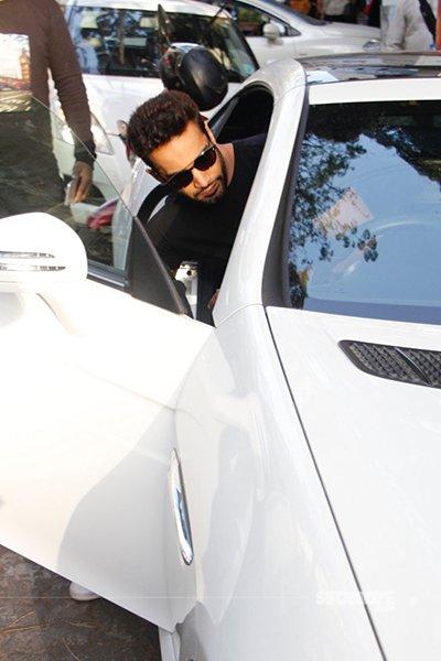 upen patel entering his car