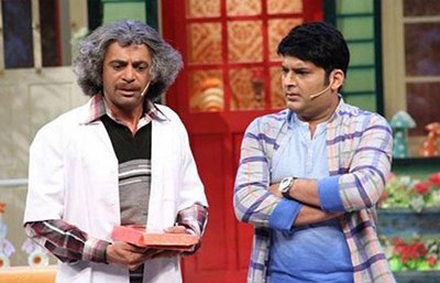 sunil and kapil argueing in the kapil sharma