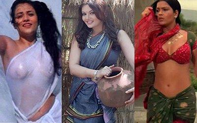 deepshika imitates mandakini and zeenat aman look in this picture