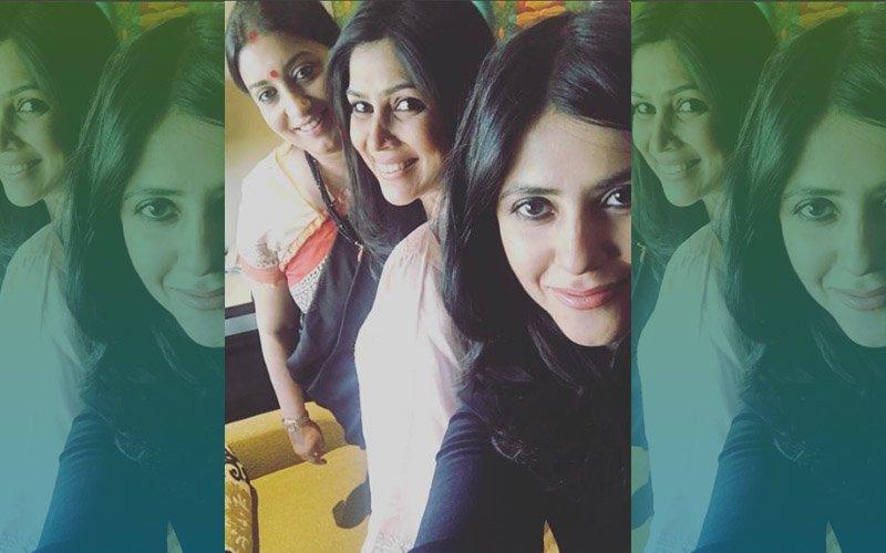 Ekta Kapoor Brings Her Favourite Bahus Together - Smriti Irani & Sakshi Tanwar