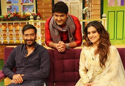 Ajay Devgn and Kajol Devgn on The Kapil Sharma Show- Shivaay.jpg