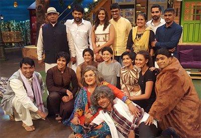 dangal sisters geeta and babita phogat at the kapil sharma show