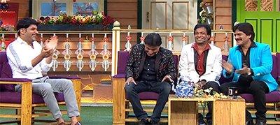 comedians sunil pal raju srivastav ahsaan qureshi on the kapil sharma show