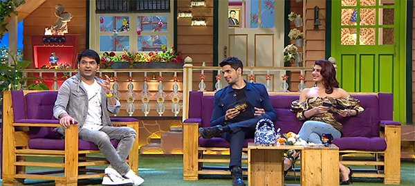 sidharth malhotra and jacqueline fernandez promote a gentleman on the kapil sharma show