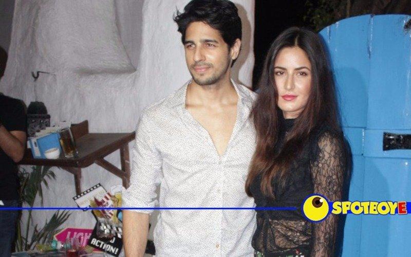 Sidharth and Katrina at the Baar Baar Dekho wrap-up party