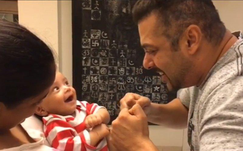 Salman, Priyanka spend time with Baby Ahil