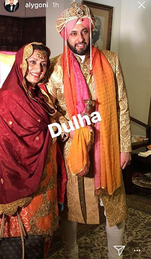 sangram singh with wife gurkiran kaur