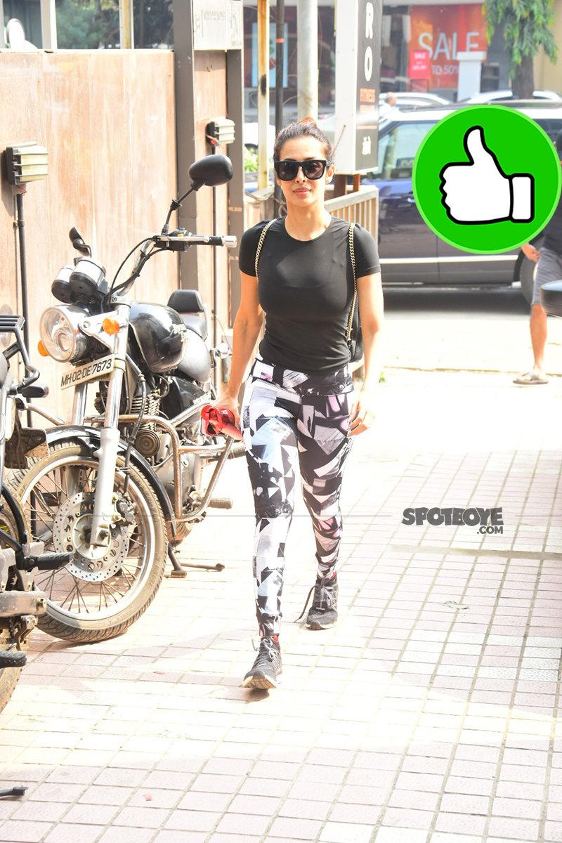 malaika arora snapped post gym