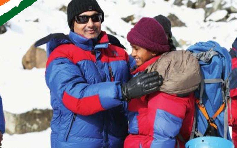 Rahul Bose unveiled the poster on Mount Kilimanjaro Summit
