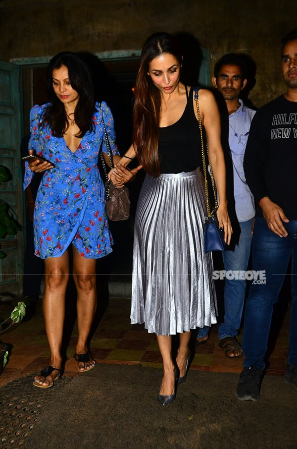 malaika arora walks hand in hand with her friend