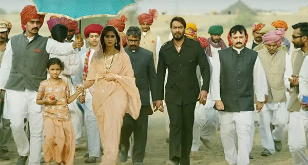 ileana dcruz and ajay devgn in baadshaho