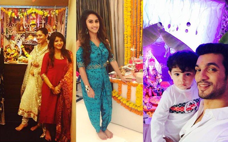 IN PICS: Ganesh Chaturthi Celebrations Are On In Full Swing. Ankita Lokhande, Krystle D'Souza, Arjun Bijlani Offer Prayers To Lord Ganesha