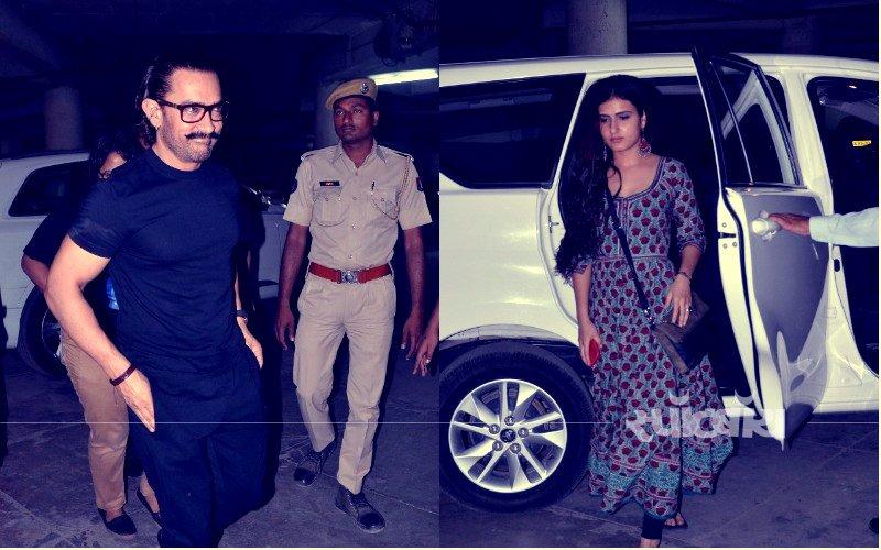 जोधपुर में फातिमा के साथ फिल्म 'हिचकी' देखने पहुंचे आमिर खान