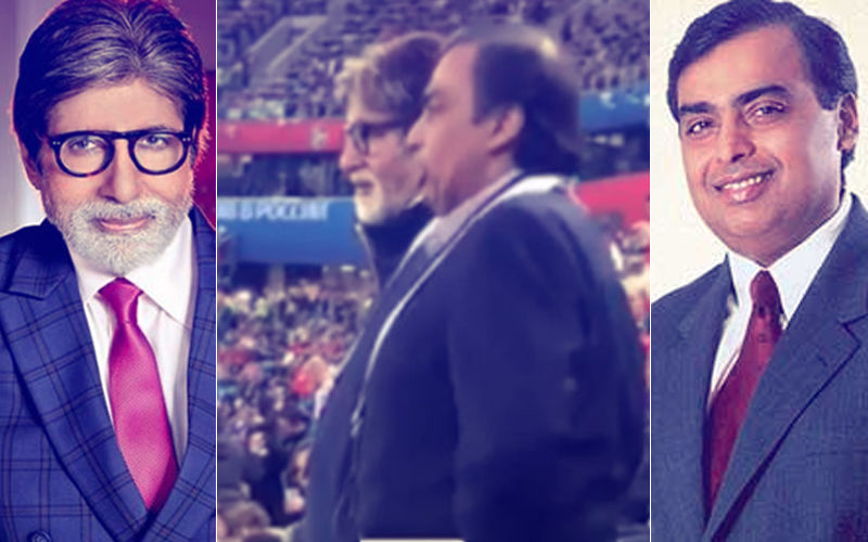 Catch Amitabh Bachchan & Mukesh Ambani Living The FIFA 2018 Fever At Semi-Finals