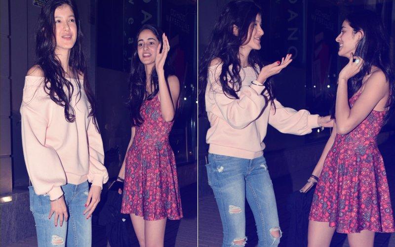 Pics: Ananya Panday & Shanaya Kapoor's Night Out