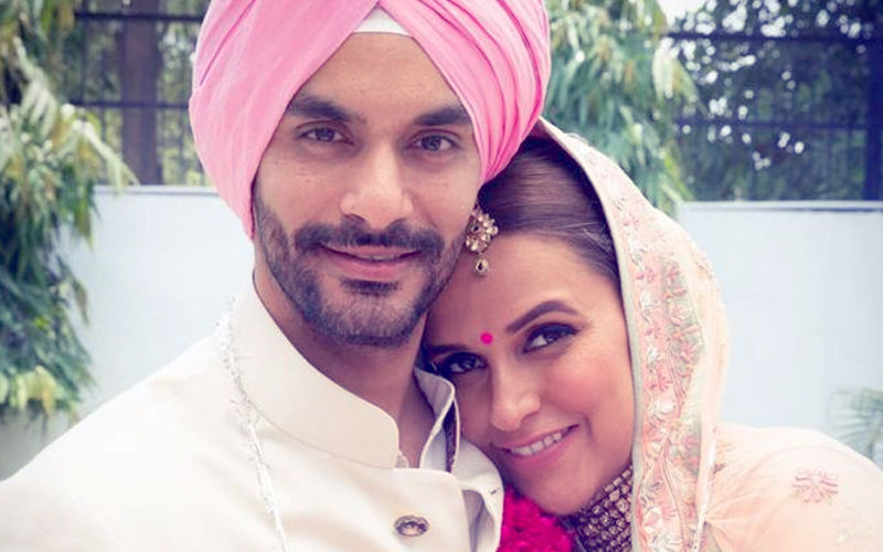 Neha Dhupia Shuts Down Troll Asking Her To Tie Rakhi To Husband Angad Bedi