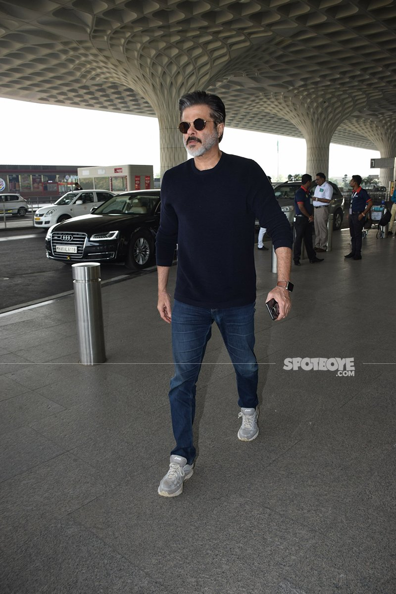 Anil Kapoor Enters Mumbai Airport To Fly Off To Haridwar