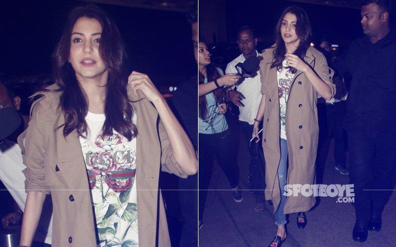 Anushka Sharma leaves for Italy