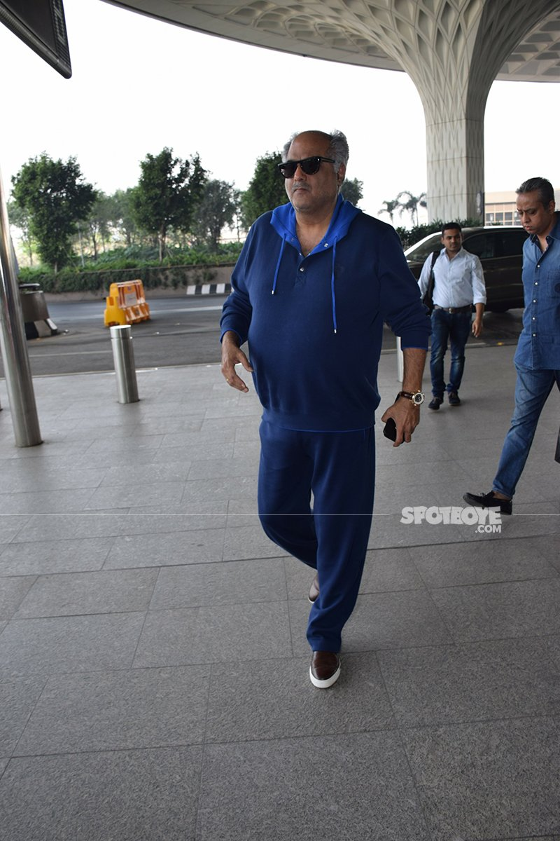 Boney Kapoor Enters Mumbai Airport To Fly Off To Haridwar