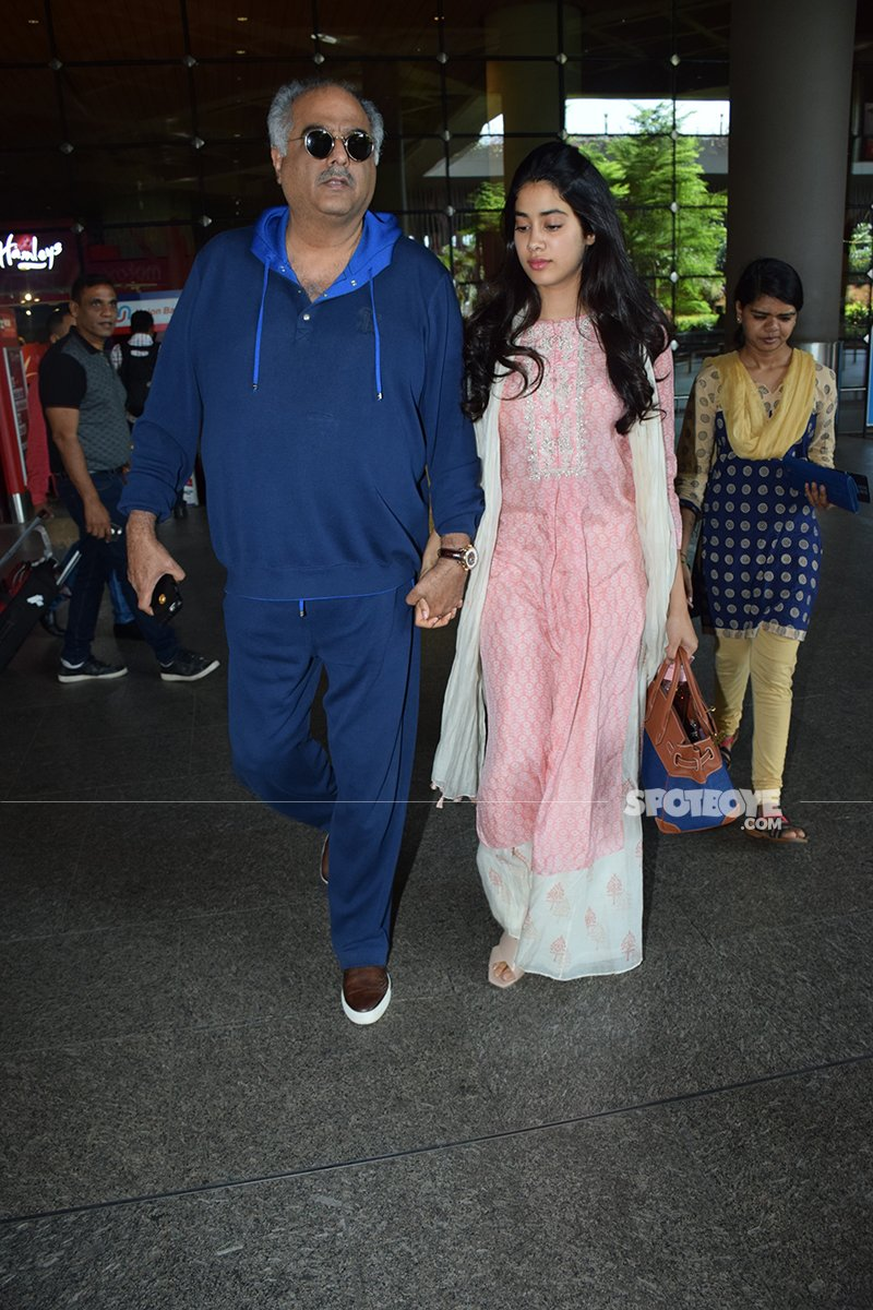 Boney Kapoor With Janhvi