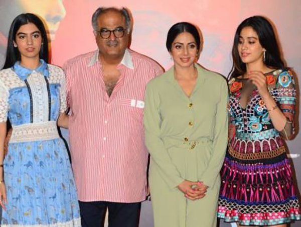 Boney Kapoor With Sridevi Janhvi And Khushi Kapoor