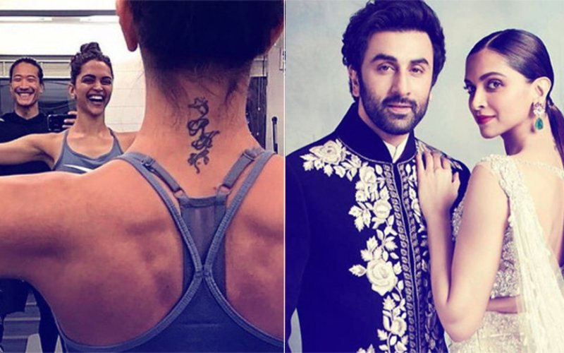 Deepika Padukone's Toned Back & RK Tattoo Are Breaking The Internet, View Pics