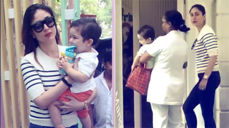 Video: Taimur's First Day At His New Playschool & He Just Doesn't Want To Walk!