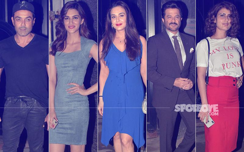 Bobby Deol, Kriti Sanon, Preity Zinta, Anil Kapoor, Fatima Sana Shaikh Attend Mukesh Chhabra's Birthday Bash