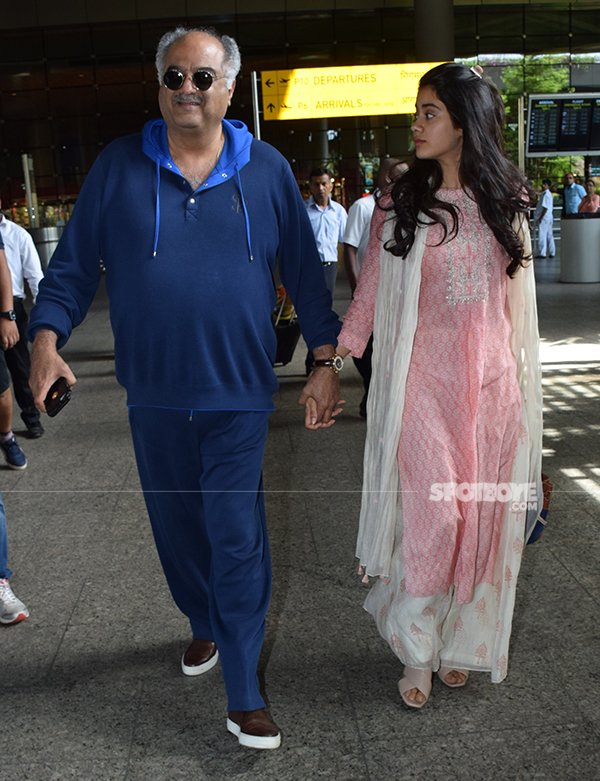 Boney Kapoor With Janhvi Kapoor