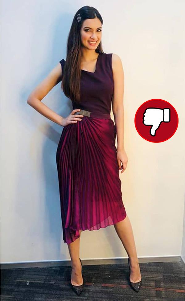 Diana Penty Snapped Post Happy Phirr Bhag Jayegi Promotions